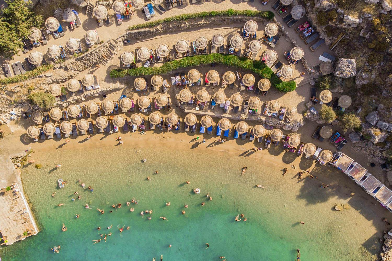 The best sandy beaches in Rhodes