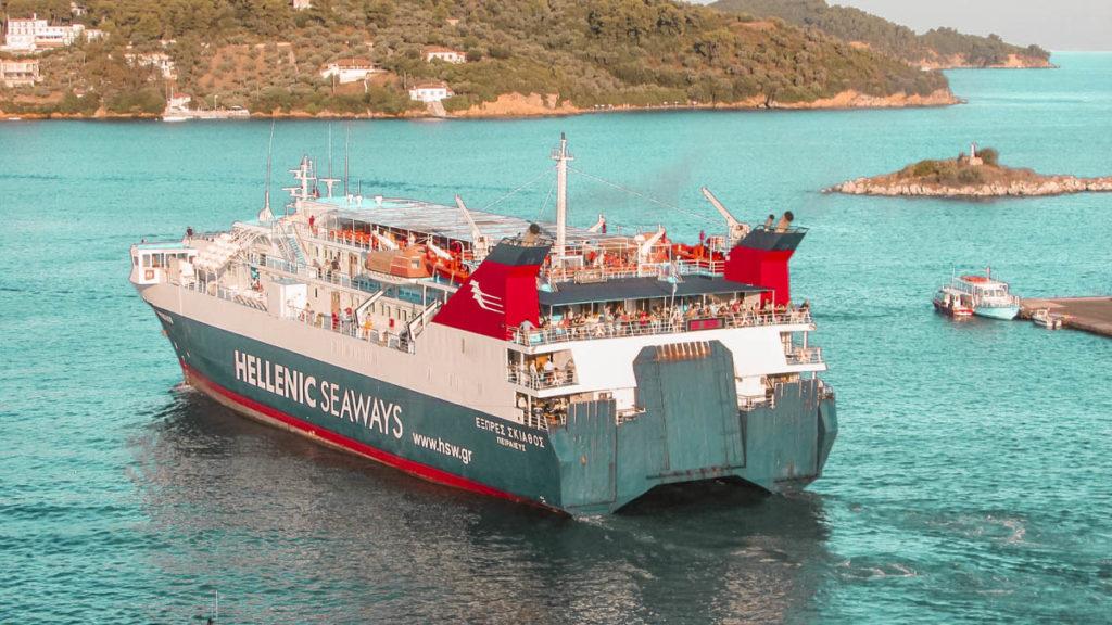 ferry transfer via athens