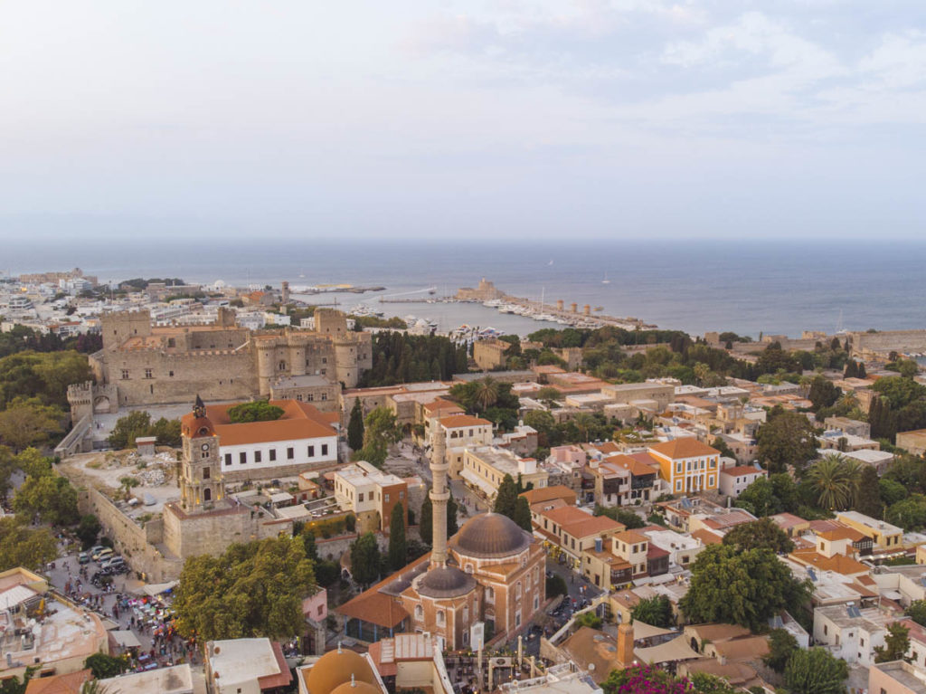 hottest greek island rhodes old town in October