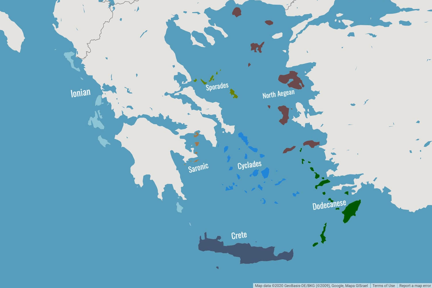 A Map Of The Greek Islands
