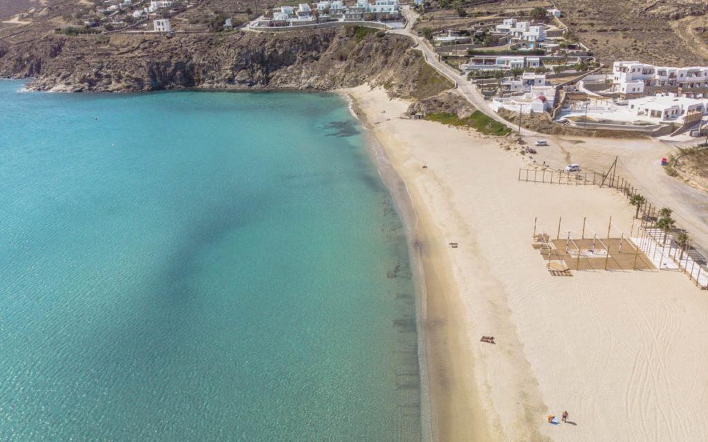Kalo Livadi beach drone