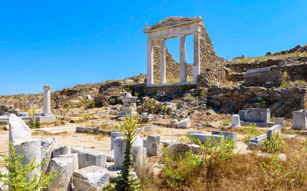 Ancient temple in Delos