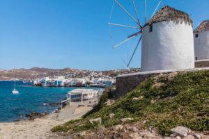 Mykonos windmills in May