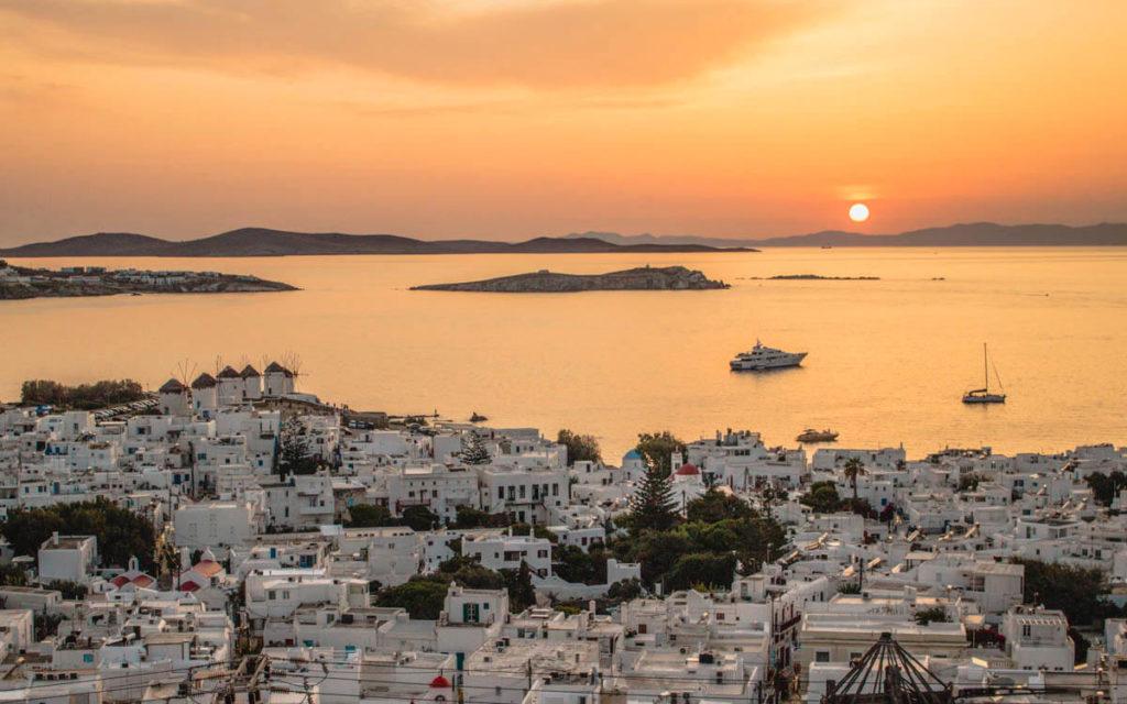 Best sunset view in Mykonos